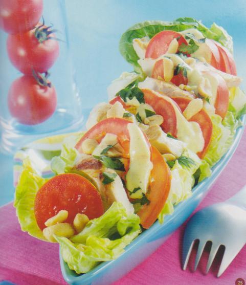 salade americaine sauce aux cacahuetes les d lices de weight watchers. Black Bedroom Furniture Sets. Home Design Ideas